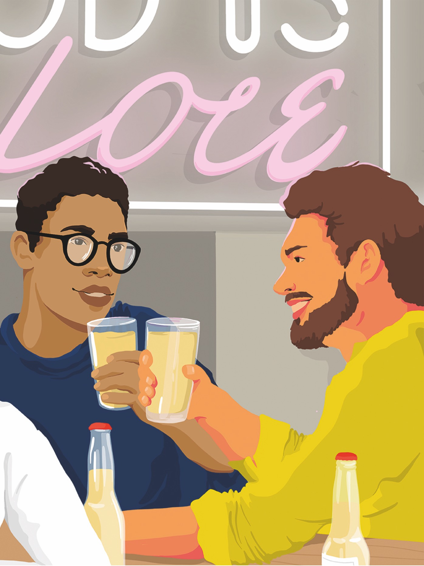 out for drinks illustration